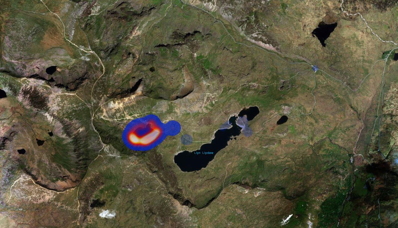 Litter Snowdon Map
